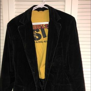 Other - Black velvet rock and roll blazer men's M